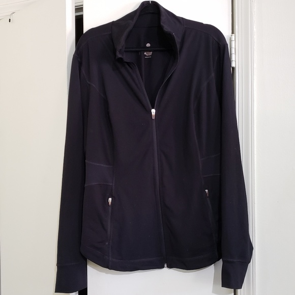 Old Navy Jackets & Blazers - Black Fitted Active Zip Jacket (Size XXL)
